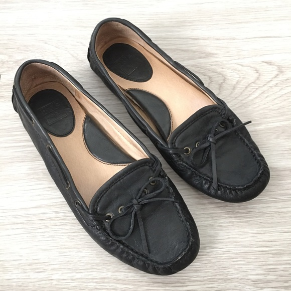 eddb32897a3 Frye Shoes - Frye Reagan Campus Driver Black Loafers Slip On